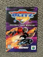 NFL Blitz 2000 Nintendo 64 N64 Instruction Manual Booklet Book NO GAME!