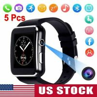 5PCS Smart watch iPhone Android IOS with SIM Bluetooth Smart Watch Touch Screen