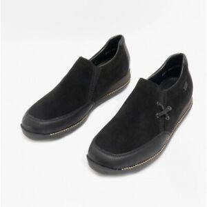 Rieker 44259 Ladies Stylish Lightweight Smooth Suede Slip On Shoes Black