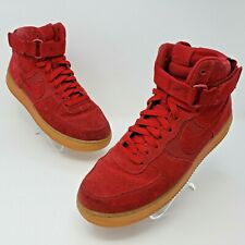 Nike Air Force 1 High 07 LV8 Mens Suede Gym Red Sneakers Size US 9 806403-601
