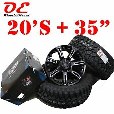 20x9 KO Off Road 840 Wheels 6x139.7 LIFTED TACOMA Mickey Thompson M/T 35 Tires