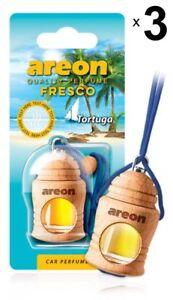 3 x Areon Fresco Tortuga Car Aroma Perfume Tree Air Freshener Fragrance Scent