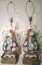 Pink Chic Pr French Country Old Paris Porcelain Portrait Lamps Woman Lighting