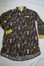 Munki Munki Women Large Nightgown Nightshirt Dia de los Muertos Day of the Dead