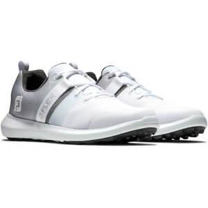 NIB MEN'S FOOTJOY  FOOT JOY FJ FLEX 56120 GOLF WHITE/GREY SNEAKERS SHOES $90