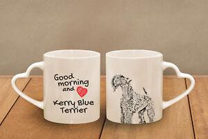 Kerry Blue Terrier -  Becher mit einem Griff in der Form des Herzens DE