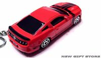 RARE KEY CHAIN ORANGE RED BLACK FORD MUSTANG BOSS 302 NEW LIMITED EDITION CUSTOM