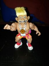 Vintage Troll Doll Doomslayer Wrestler YellowHair Muscles Action Figure 90s