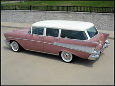 1957 Chevrolet Belair Wagon, Refrigerator Magnet, 40 Mil thick