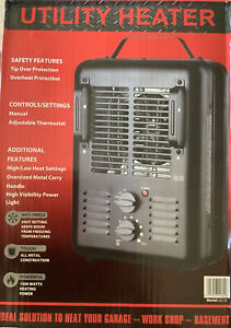 New Utility DQ1702 Milkhouse Style Electric Fan-Forced Space Heater - Black