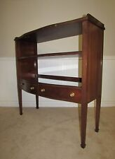 VINTAGE INLAID MAHOGANY THREE TIER SERVER, SIDEBOARD, BUFFET, ETAGERE BENCH MADE
