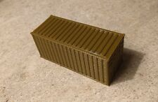 HO Scale Brown 20' Foot Shipping Container Intermodal Container