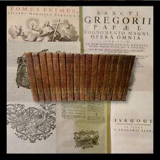 San Gregorio Magno Papa I : Opera Omnia - Venezia 1768 - bella legatura 17 voll.