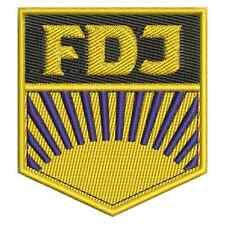 FDJ Patch, rda ostalgie, oriente, sed bordados., aufbügler, parche, bordados.