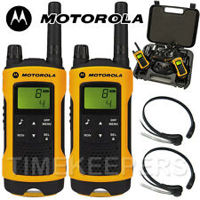 Motorola TLKR T80 Extreme Rugged All Weather Two Way Radios & Throat Mics Twin