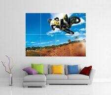 Motocross Dirt Bike Jump géant Mur Art Image Print Photo Poster J118