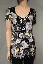 Alice Temperley for Target Black, White, Yellow Floral Shirt Top  size 9