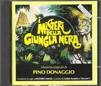 """PINO DONAGGIO RARO CD 1991 FUORI CATALOGO """" I MISTERI DELLA JUNGLA NERA """""""