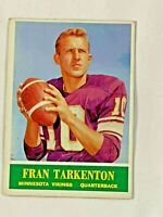 1964 Football FRAN TARKENTON QUARTERBACK MINNESOTA VIKINGS #109