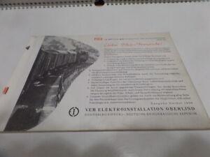 Katalog Piko 1958 DDR selten SantaFe