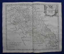 NORTHAMPTONSHIRE original antique map from CAMDEN'S BRITANNIA, R. Morden, 1722
