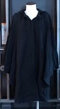 Vintage Womens Worthington Black Heavy Poncho jacket Button Front Overcoat Small