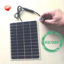 Solar Transparent panel 5.5 Watt 12v   charger USB cable& batterie cable