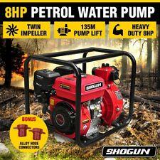 "8HP 2"" Twin Impeller Petrol High Pressure Water Transfer Pump Fire Fighting"