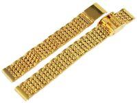 Edelstahl Gliederarmband Uhrenband Gold 12 mm Ersatzband XRP8204012084