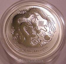 2012 AUSTRALIAN LUNAR YEAR OF THE DRAGON  1 oz. .999 SILVER COIN  *BU*