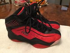 MENS FILA  CONTINGENT  SAFETY RED BLACK BASKETBALL SHOES SNEAKERS