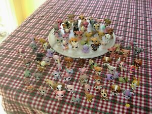 HUGE LOT LITTLEST PET SHOP FIGURES LPS 91 PCS. CATS DOGS PARROT OCTOPUS RARE!!!