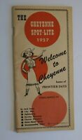Vintage Travel & Local Advertising Brochure The Cheyenne Spot-Lite 1957 Wyoming