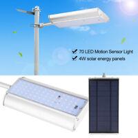70 LED Solar Luz Impermeable Sensor Movimiento Jardín Camino Calle Lámpara Pared