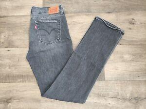 Levis 714 donna jeans dritto nero effetto scambiato straight fit stretch W.29