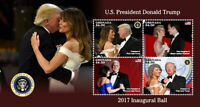 Grenada 2017 - President Trump, Mike Pence - Inaugural Ball - Sheet of 4 - MNH