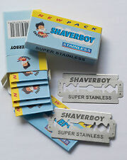 100 DOUBLE EDGE RAZOR BLADES FROM SHAVERBOY CANADA - WE ALSO SHIP TO THE USA !!!