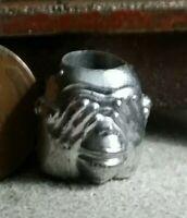 Silver Tone Charm Bracelet See Speak Hear No Evil Monkeys Charms  7.50 Inches Starter Gift Idea  Vintage Fine Costume Jewelry