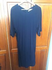New! J LINDEBERG Navy Blue Long Sport Luxe Stretch Rayon Dress - 8 / 36