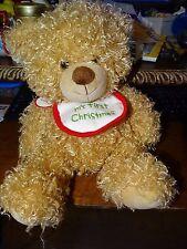 HALLMARK MY FIRST CHRISTMAS PLUSH TEDDY BEAR STUFFED ANIMAL NWT