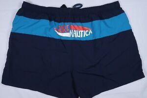 "NWT NAUTICA N83 NS83 MENS 3X 50 SURF NAUTICA COLORBLOCK 5"" TRUNKS SWIM SHORTS"