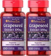 2 Semi d'uva 100 mgr 100 caps. Resveratrolo, Grapeseed