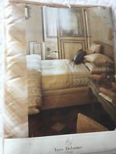 Yves Delorme CRAVATE GOLD SATIN King Superking FLAT Sheet