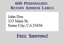 "600 Large Printed Return Address Labels 1"" x 2-5/8"" Inch 1"" x 2.625"""