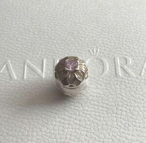 Genuine Pandora Sterling Silver Blooming Dahlia Clip Charm  - 791828NBP