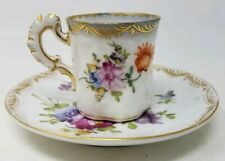 Dresden, Hand Painted Demitasse Cup & Saucer