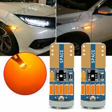 CANbus Error Free LED 194 168 Side Marker Light Bulb Bright Amber Sidemarker fit