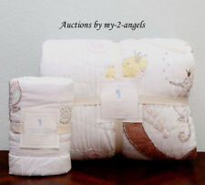 New Pottery Barn Kids Isabelle Mermaid Castle Twin Quilt + Euro Sham Ivory *Girl