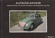 Austria,Briefmarkenbuch, VW-Käfer, Ford,Fiat,Puch,Citroen,usw, mit Briefmarken,