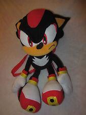 """Sega Sonic The Hedgehog Shadow Plush Doll Backpack Toy Tote 20"""" Euc"""